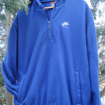 Vintage Nike 90s Fleece Pullover Nike Fit