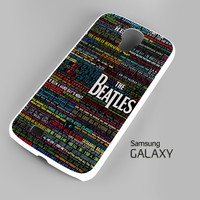 the beatles typography song lyric Samsung Galaxy S3 S4 S5 Note 3 Cases - Galaxy