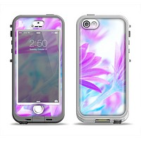 The Vibrant Blue & Purple Flower Field Apple iPhone 5-5s LifeProof Nuud Case Skin Set