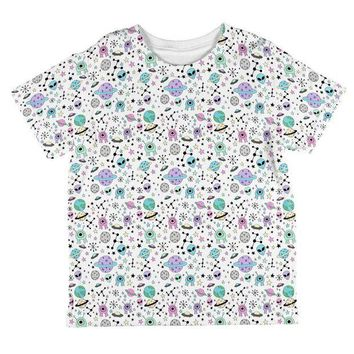 DCCKU3R Outer Space Aliens Pattern All Over Toddler T Shirt