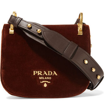 Prada - Pionnière velvet shoulder bag