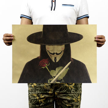 V For Vendetta Old Movie Poster 20X14
