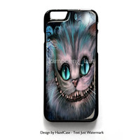 Disney Alice In Wonderland Cheshire Cat Smile for iPhone 4 4S 5 5S 5C 6 6 Plus , iPod Touch 4 5  , Samsung Galaxy S3 S4 S5 Note 3 Note 4 , and HTC One X M7 M8 Case Cover