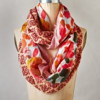Damask Rose Infinity Scarf by Anthropologie Red One Size Scarves