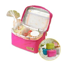 Lunch Box 4 Colors Outdoor Organizer Carry Cooler Storage