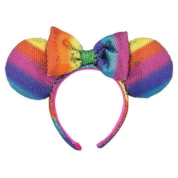 Disney Parks Minnie Mouse Rainbow Headband One Size New with Tags