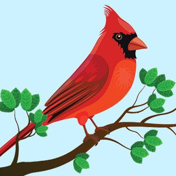 Cross stitch pattern Cardinal bird-PDF-Instant Download-Counted cross stitch-Patterns-needlepoint-Winter Birds pattern-Baby-Kids-Tutorial