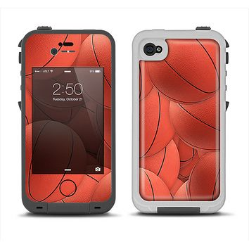 The Basketball Overlay Apple iPhone 4-4s LifeProof Fre Case Skin Set