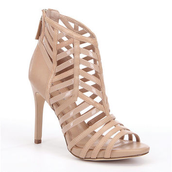 Gianni Bini Leuca Caged Peep-Toe Pumps | Dillards