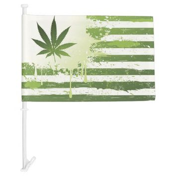 Artist Marijuana Car Flag