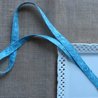 Fabric Lanyard  - Hidden Leaves on Teal