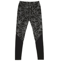 Chain Leaf Panel - Ladies Knit Leggings