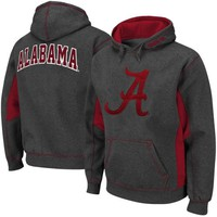 Alabama Crimson Tide Turf Fleece Pullover Hoodie - Charcoal/Crimson