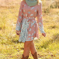 Fancy Me In Florals Dress: Blush