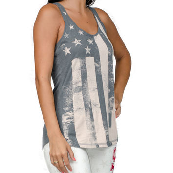 Liberty Rings Flag Tank by PJ Salvage (Color Grey)