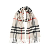 BURBERRY Woman's Men's StoneGiant Icon Cashmere Scarf