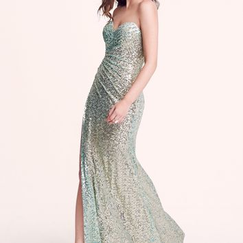 La Femme Sequin Gown & Accessories