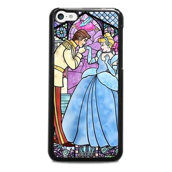 cinderella art glasses disney iphone 5c case cover  number 1
