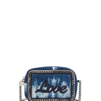 Stella McCartney Love Denim Crossbody/Clutch Bag, Blue