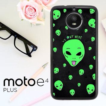 Alien We Out Here X4148 Motorola Moto E4 Plus Case