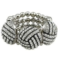 *[B/L]-Volleyball Bling Statement Bracelet