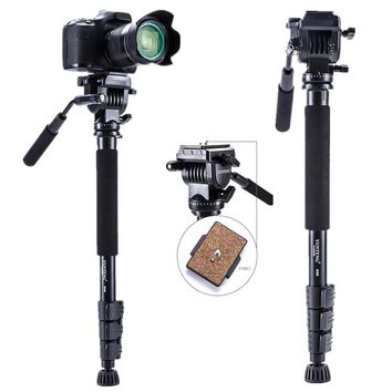 Yunteng 558 VCT-558 Pro Monopod + Fluid Pan Head Ball + DV Unipod Mobile Phone Clip Holder For Canon Nikon DSLR Camera Tripods