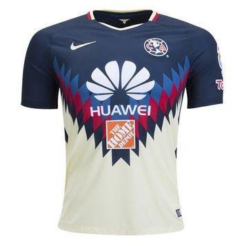 KUYOU Mexico Club America 2017/18 Home Men Soccer Jersey Personalized Name and Number