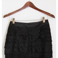 Black Lace Tiered Skirt