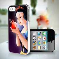 DP 0722 Princess Snow White and Apple - Custom Design iPhone 4 / 4S And IPhone 5 Case Apple Phone Cover Plastic Black / White