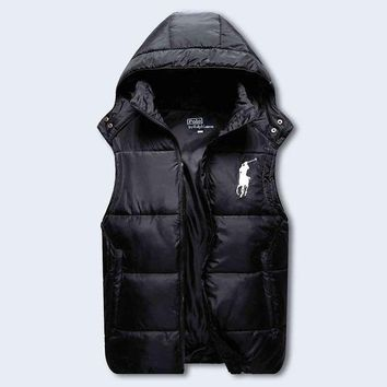 ESB3ONH Polo Ralph Lauren Hooded Warm Vest Waistcoat Cardigan Jacket Coat