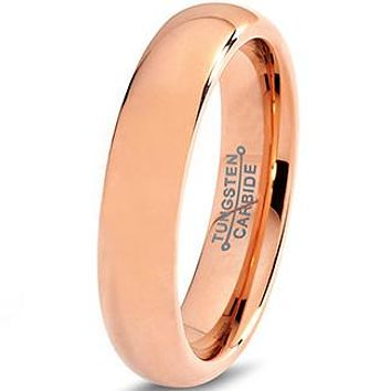 5mm 18k Rose Gold Plated Dome Cut Tungsten