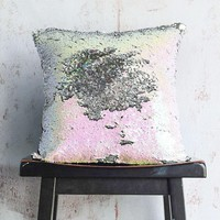 Iridescent & Silver Sequin Mermaid Pillow