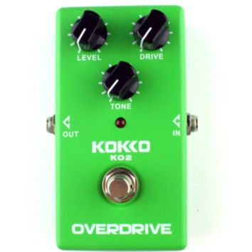 KO2 Overdrive Electric Guitar Effect Pedals True Bypass Natural Tube Sound