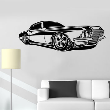 Vinyl Wall Decal Retro Car Impala Supernatural Garage Automobile Stickers Unique Gift (1340ig)