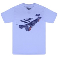 Miller Lite Logo On A Skateboard  White T-shirt