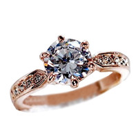 Wedding Rings for women 925 sterling silver Jewelry Engagement ring Crystal
