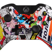Custom Xbox One Controller - Sticker Bomb