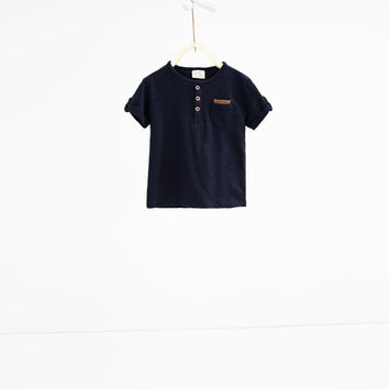 Button neck T - shirt-View all-T-SHIRTS-BABY BOY | 3 months-3 years-KIDS | ZARA United States