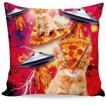 Bacon Pizza Space Cat Couch Pillow