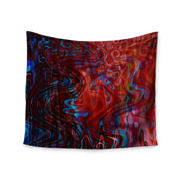 "Suzanne Carter ""Flow"" Red Blue Wall Tapestry"