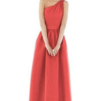 Alfred Sung by Dessy D531 Long One Bridesmaid Dress