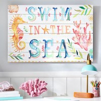 Swim In The Sea Watercolor Art