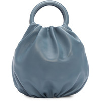 Blue Leather Bounce Bag