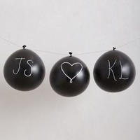 Chalkboard Balloon Kit by Anthropologie Black One Size House & Home