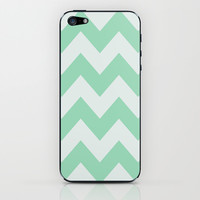 Wintermint Chevron iPhone & iPod Skin by Ann B.