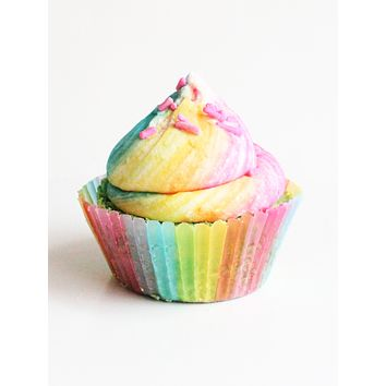 Over The Rainbow Cupcake Bath Bomb