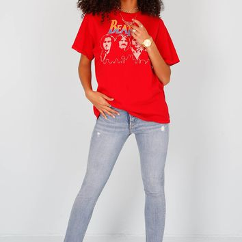 JUNK FOOD | The Beatles Unisex Tee - Red