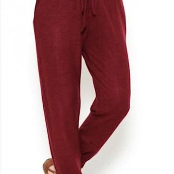 Set In Stone Joggers | Burgundy