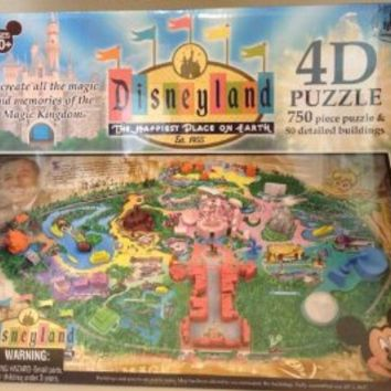 DISNEYLAND 4D Puzzle (750 Pieces & 50 Detailed Buildings) - Disney Parks Exclusive & Limited Availability