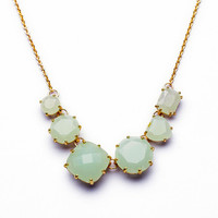Mint Stone Necklace,Cute Little Facet Gemstone Choker,Fashion Summer Girly Necklace,Gift for Her